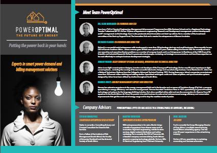 PowerOptimal team profile screen capture
